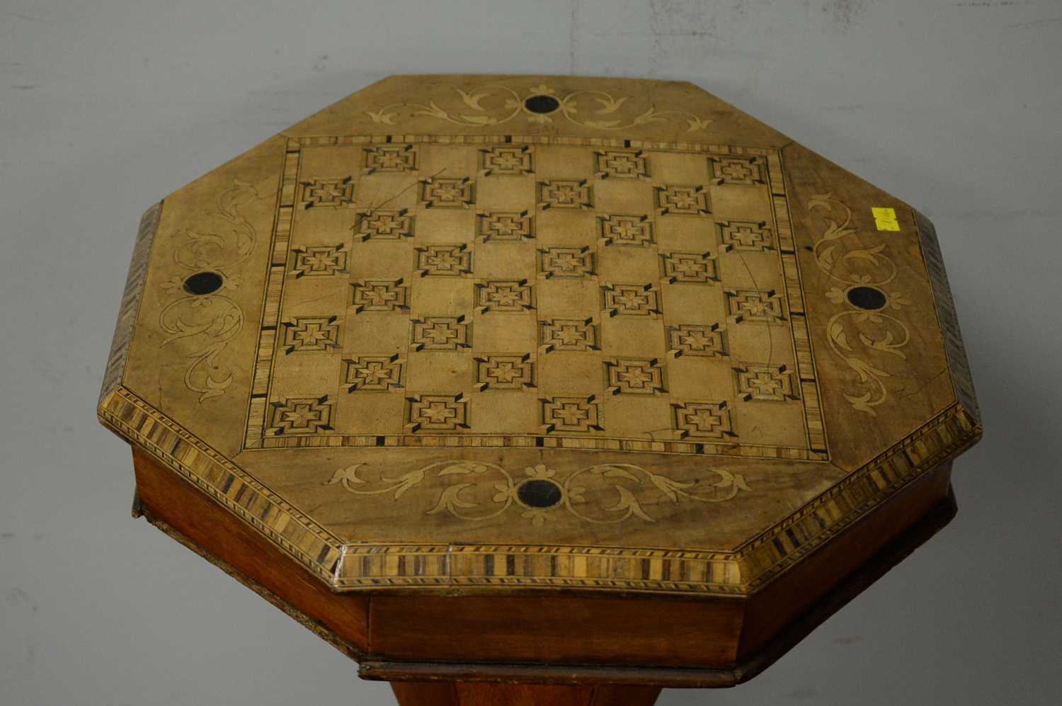 Victorian walnut work table. - Image 3 of 5