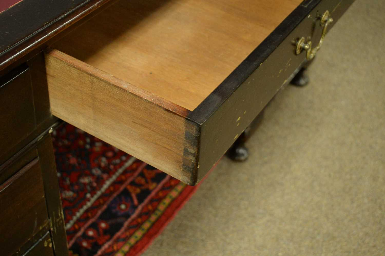 Edwardian mahogany desk. - Image 6 of 7