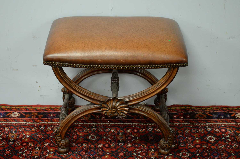 A Regency style mahogany stool