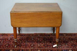 Victorian walnut drop leaf dining table.