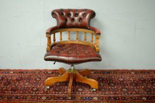 20th C captain's chair.