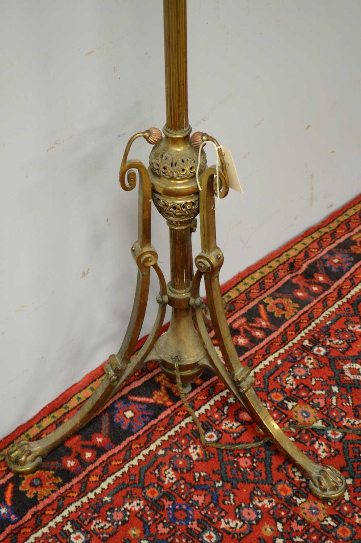Victorian brass standard lamp. - Image 3 of 3