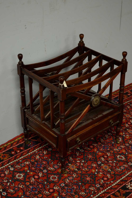 20th C mahogany canterbury. - Image 3 of 5