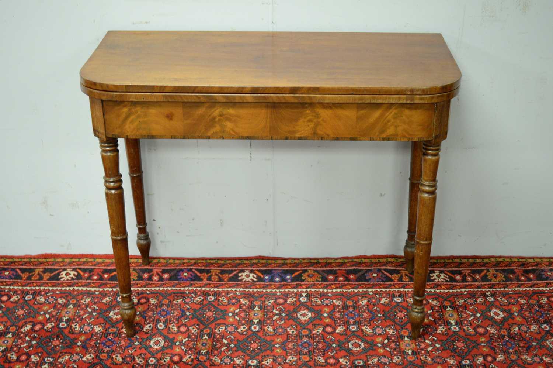 19th C mahogany tea table. - Image 2 of 3