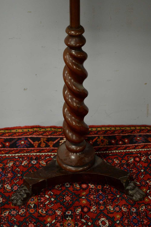 Victorian mahogany pole screen. - Image 4 of 5