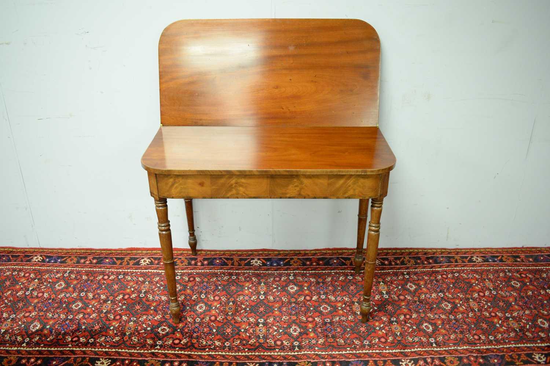 19th C mahogany tea table. - Image 3 of 3