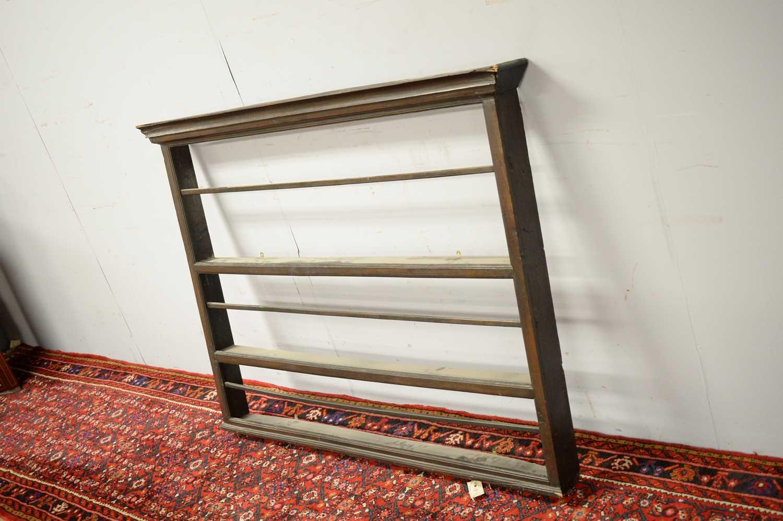 Set of 19th C oak hanging shelves. - Image 4 of 5