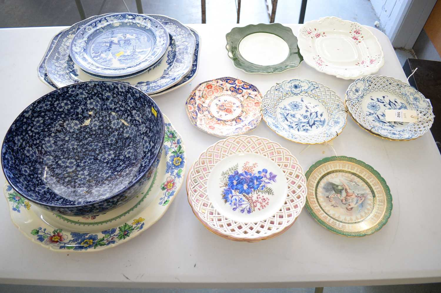 Ceramics by Doulton, Masons and others.