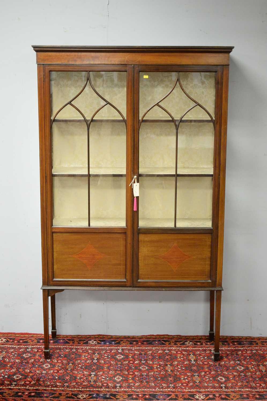Edwardian mahogany display cabinet.