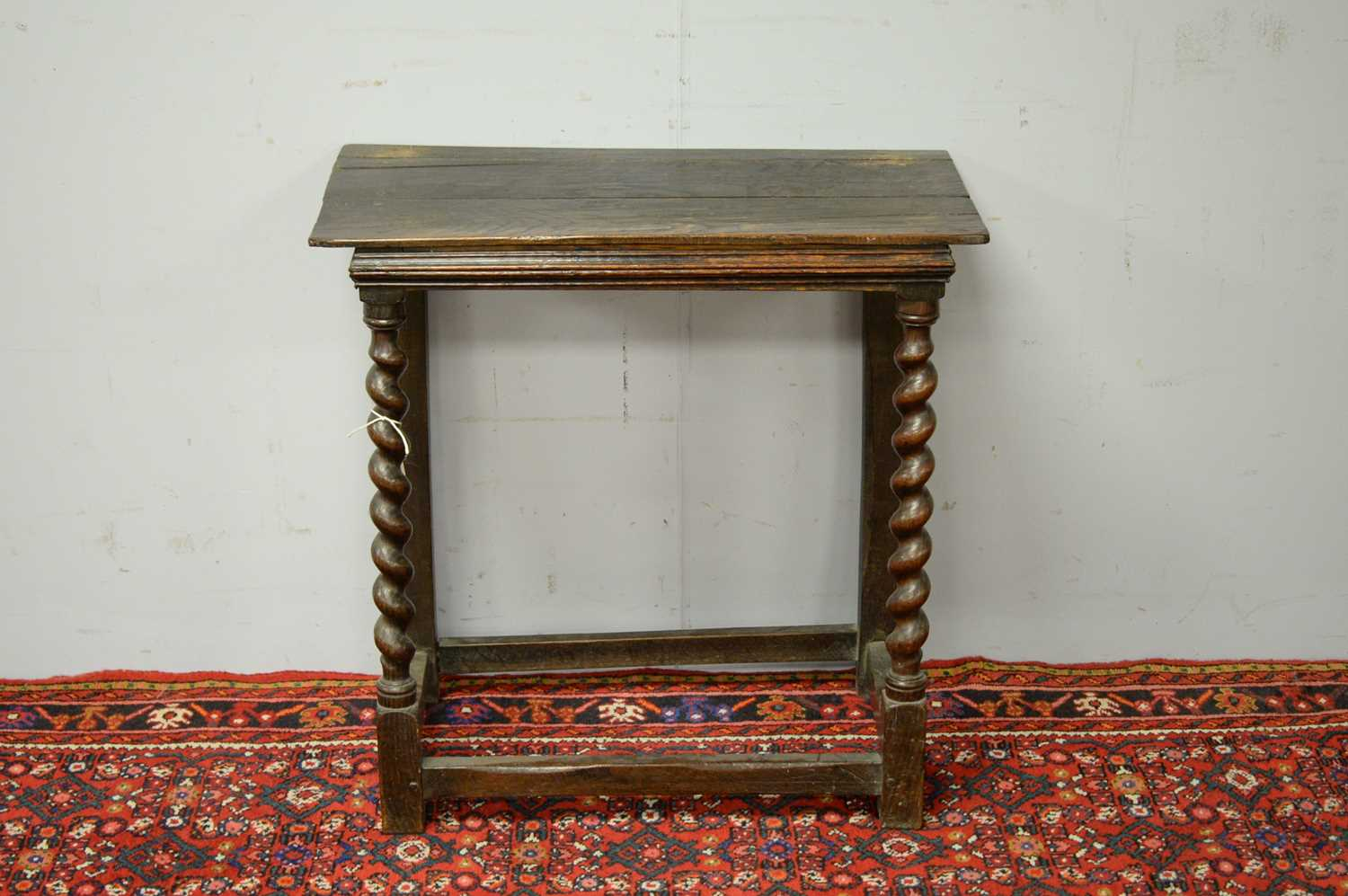 19th C and later oak side table.