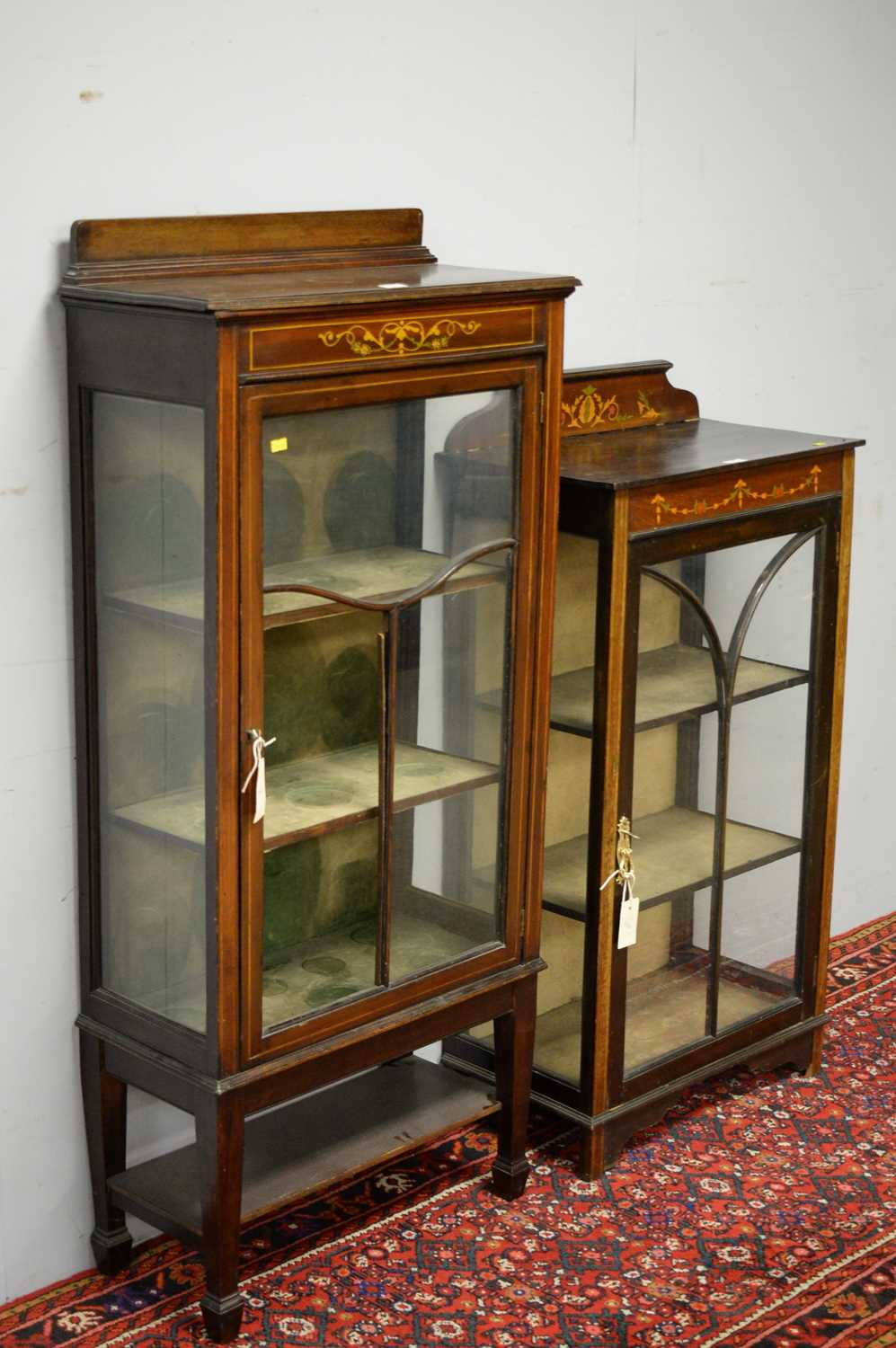 Two early 20th C display cabinets. - Image 4 of 6