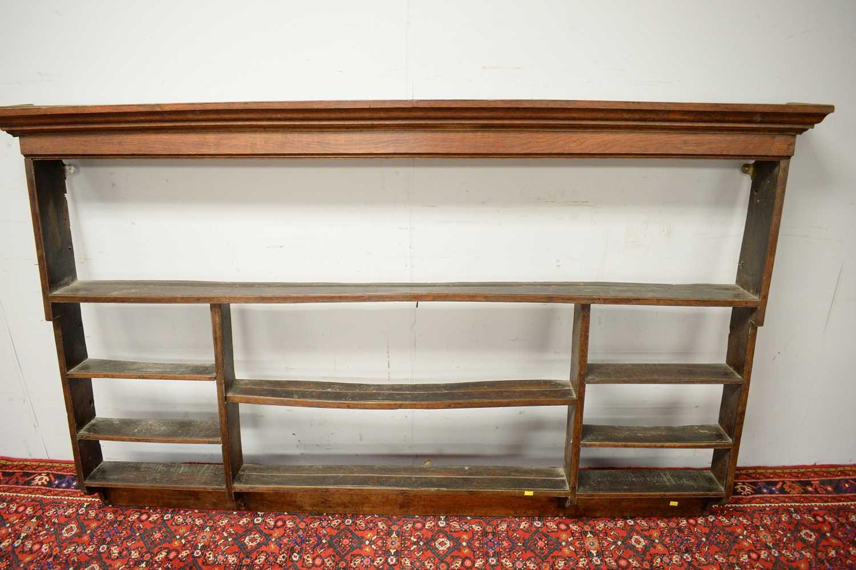 18th C oak set of hanging shelves. - Image 3 of 3