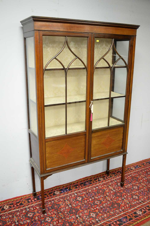 Edwardian mahogany display cabinet. - Image 3 of 3
