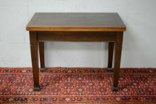 20th C oak dining table.