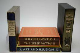 Four Folio Society volumes.