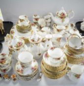 Large qty. of Royal Albert 'Old Country Roses' tea and dinner ware.