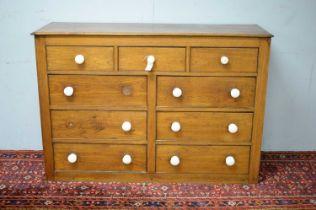 19th C oak sideboard.