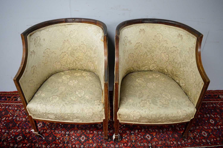 Pair of Edwardian mahogany chairs. - Image 4 of 5