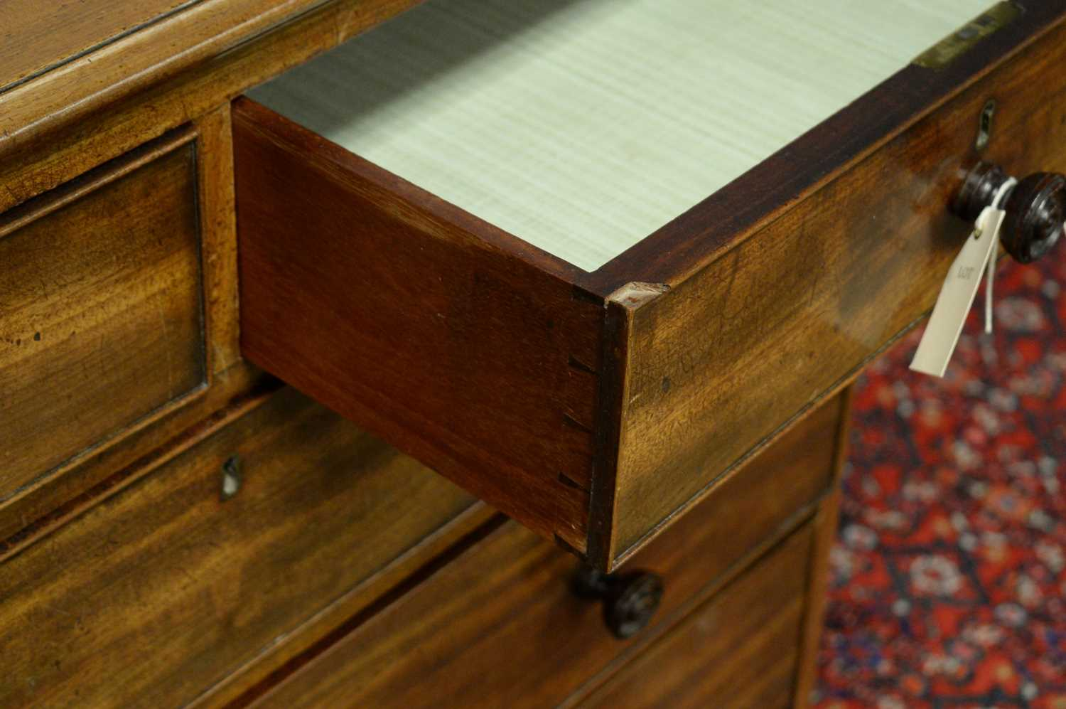 19th C mahogany chest of drawers. - Image 4 of 5