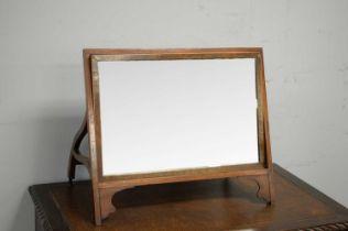 20th Century mahogany mirror