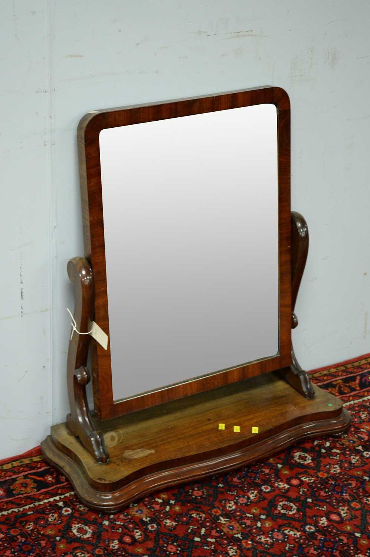 A Victorian mahogany toilet mirror, - Image 3 of 3