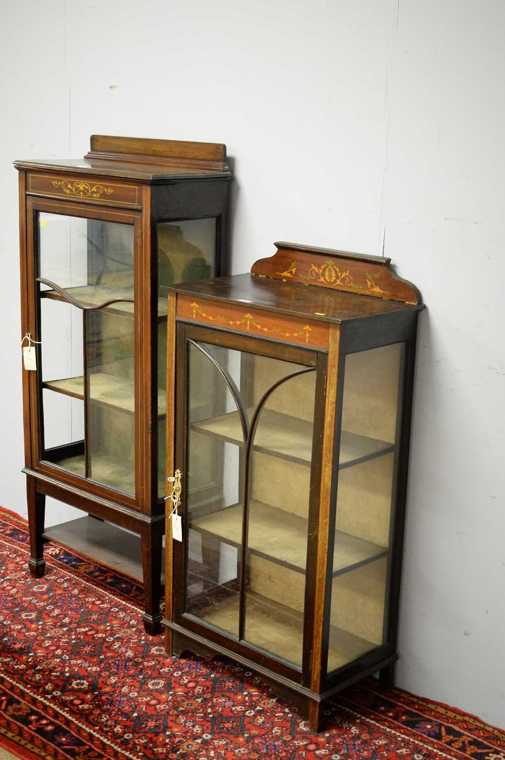 Two early 20th C display cabinets. - Image 5 of 6