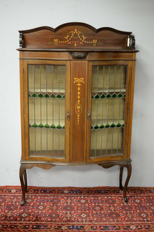 Edwardian mahogany display cabinet. - Image 2 of 3