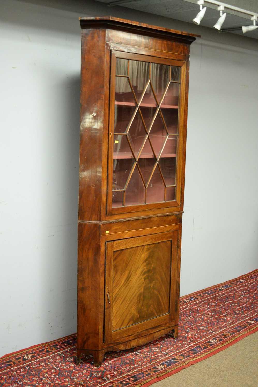 19th C mahogany corner cabinet. - Image 3 of 3