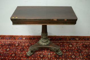 William IV rosewood card table.