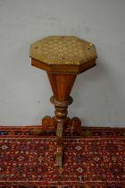 Victorian walnut work table.