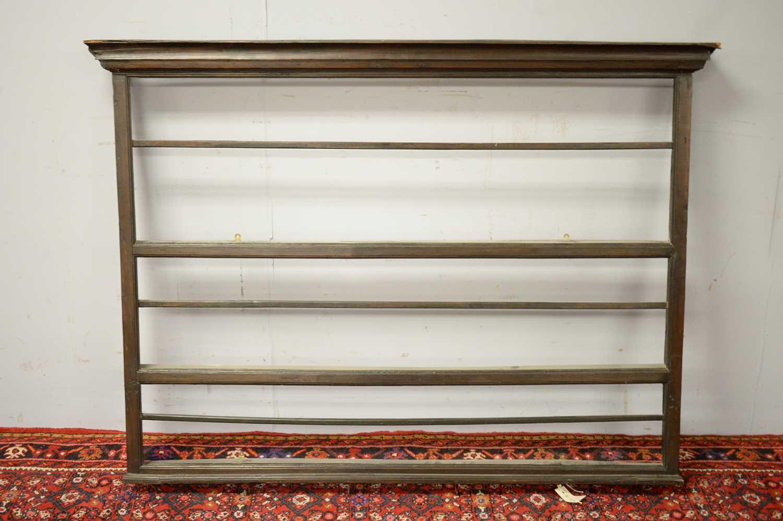 Set of 19th C oak hanging shelves. - Image 2 of 5