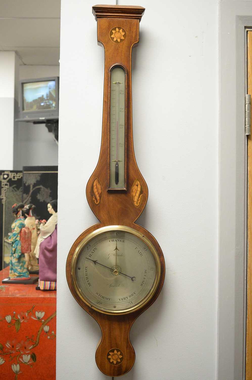 G Bianchi, Ipswich - 19th Century mahogany barometer - Image 2 of 3
