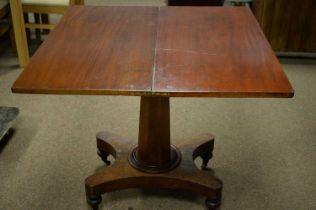 Victorian walnut tea table.