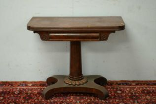Early 19th Century mahogany tea table.