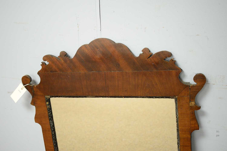 Geo. III style mahogany wall mirror. - Image 3 of 3