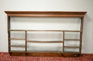18th C oak set of hanging shelves.