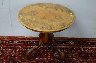 Walnut side table.