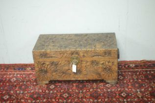 Early 20th C Chinese camphor wood chest.
