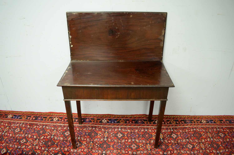 19th C mahogany tea table. - Image 3 of 5