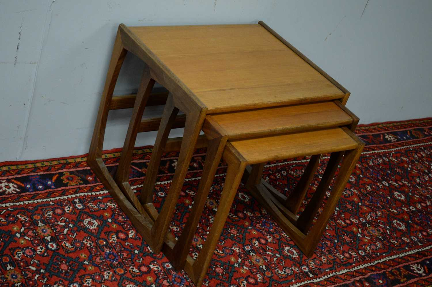 Nest of three G-Plan style tables. - Image 3 of 3
