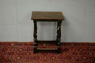 19th C oak side table.