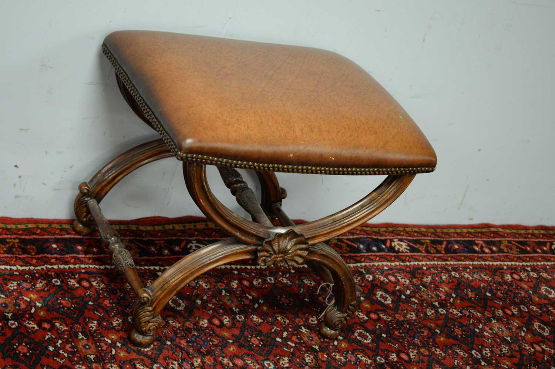 A Regency style mahogany stool - Image 3 of 5