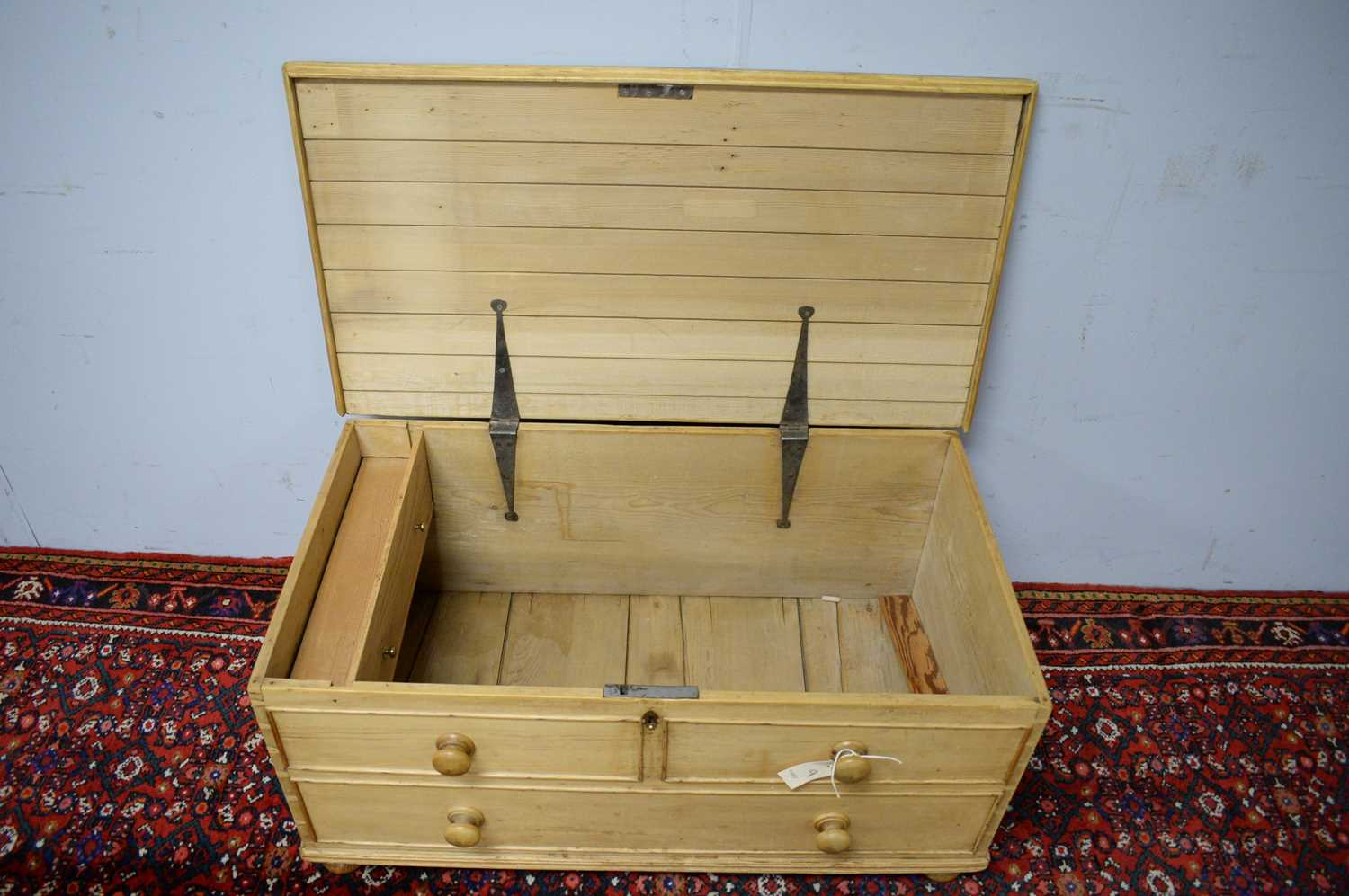 20th C stripped pine blanket box. - Image 3 of 3