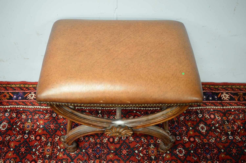 A Regency style mahogany stool - Image 4 of 5