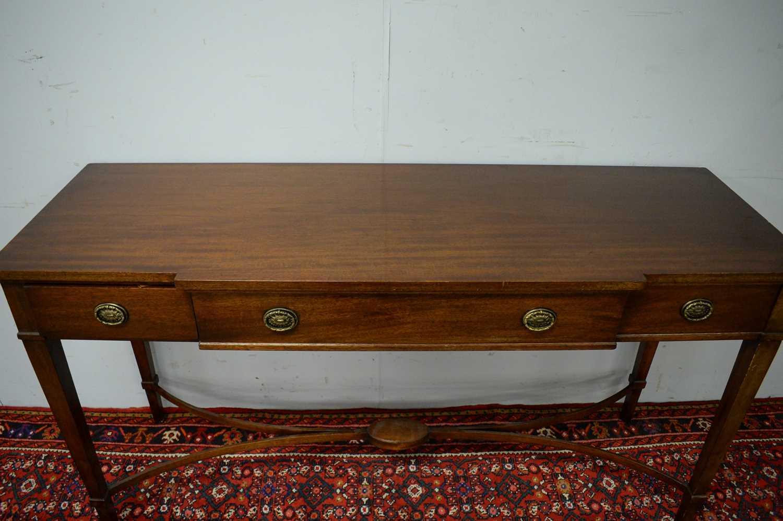 20th C mahogany breakfront sideboard. - Image 4 of 7