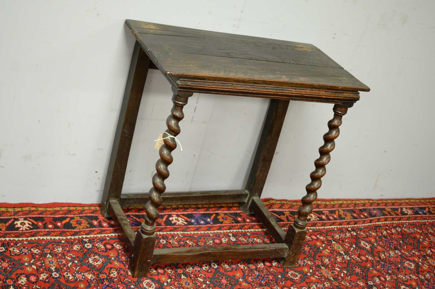 19th C and later oak side table. - Image 3 of 5