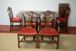 20th C George III style dining room suite.