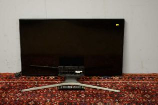 Two Samsung flat screen televisions.