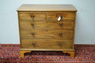 19th C mahogany chest of drawers.