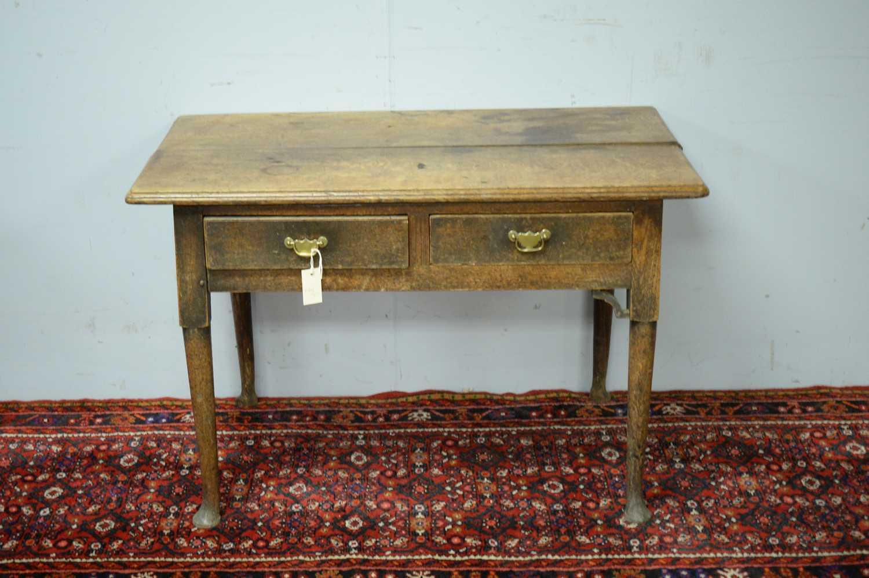 A 19th Century oak side table